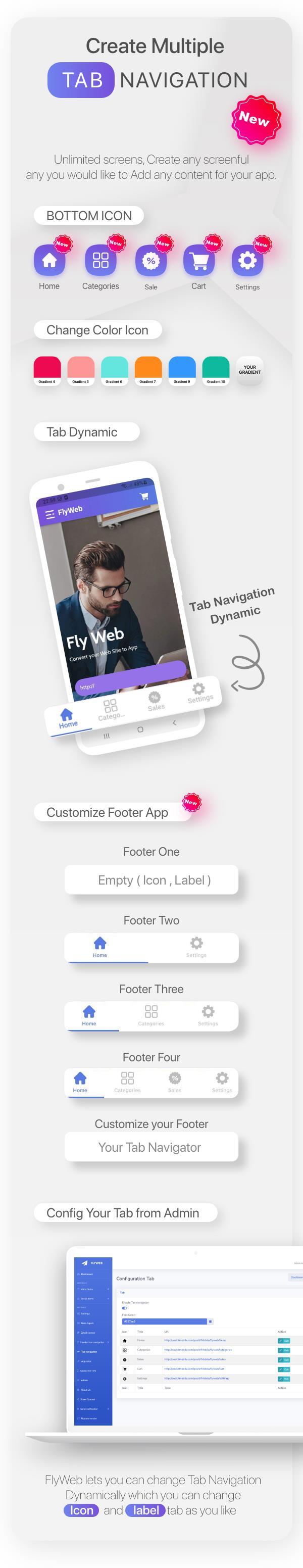 FlyWeb para Web to App Convertor Flutter + Painel de administração - 12