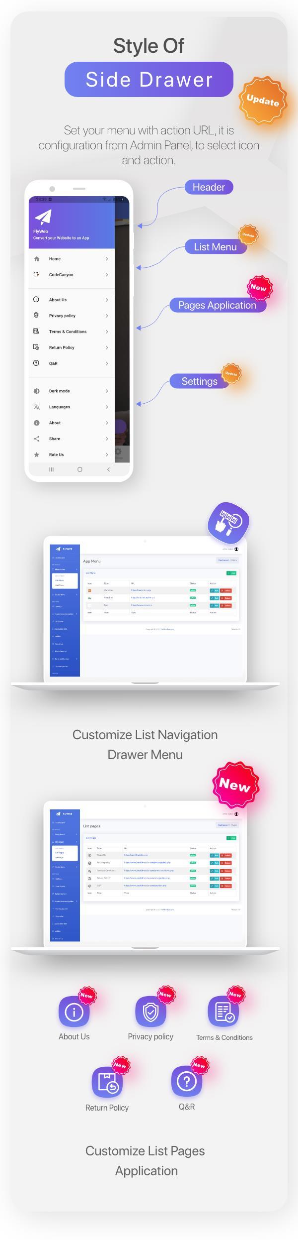 FlyWeb para Web to App Convertor Flutter + Painel de administração - 13