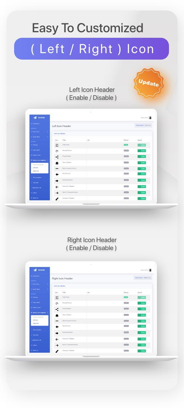 FlyWeb for Web to App Convertor Flutter + Admin Panel - 15