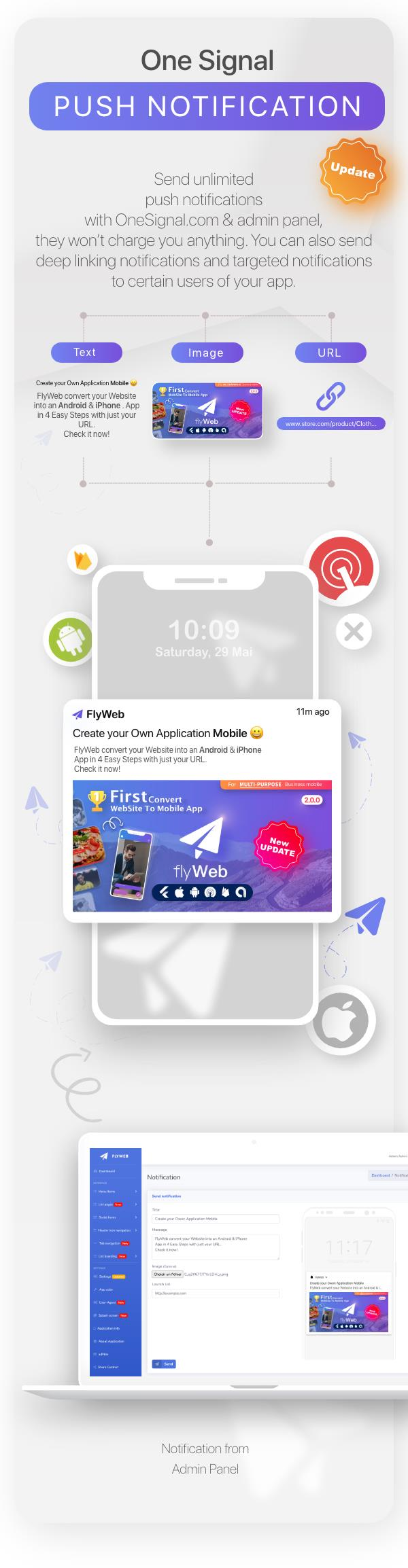 FlyWeb for Web to App Convertor Flutter + Painel de administração - 19