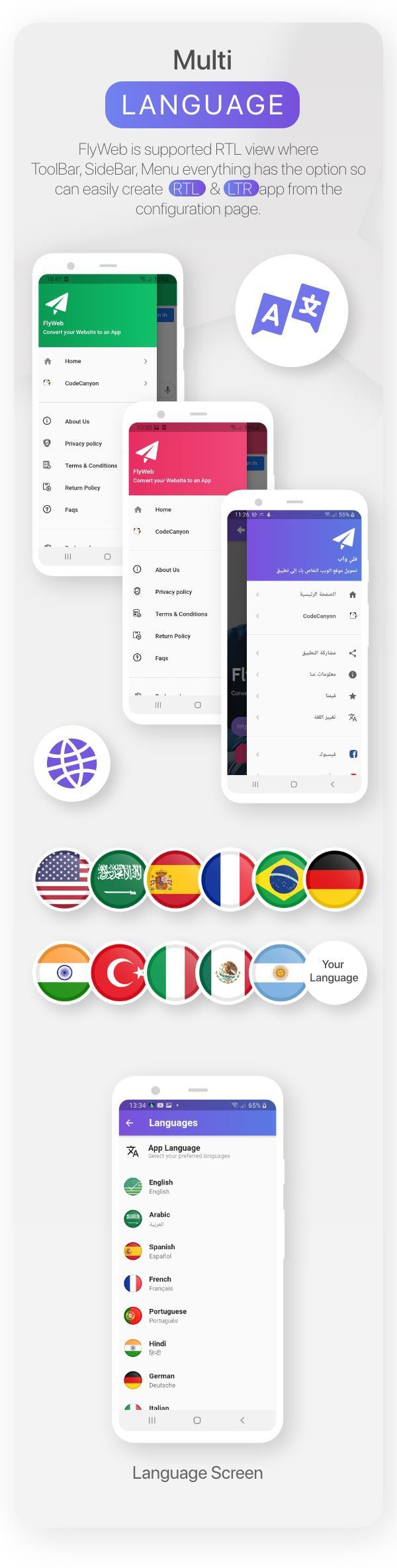 FlyWeb para Web to App Convertor Flutter + Painel de administração - 24