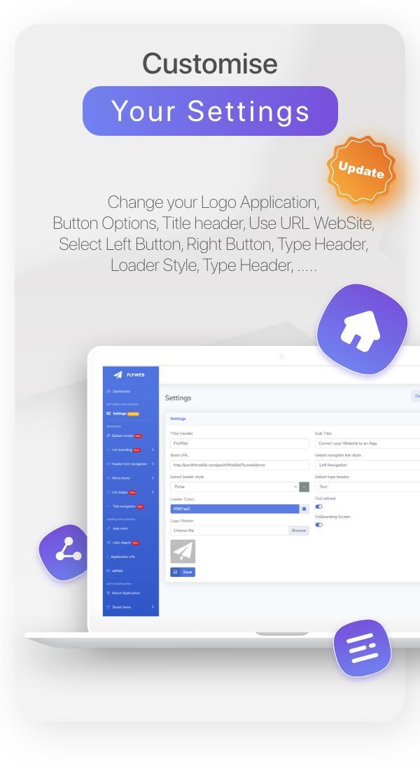 FlyWeb para Web to App Convertor Flutter + Painel de administração - 31
